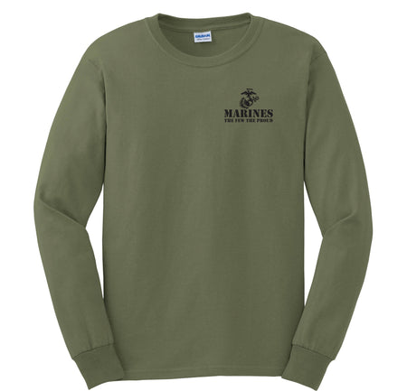Chest Seal Long Sleeve Tee (MULTIPLE COLORS) - Marine Corps Direct  - 1