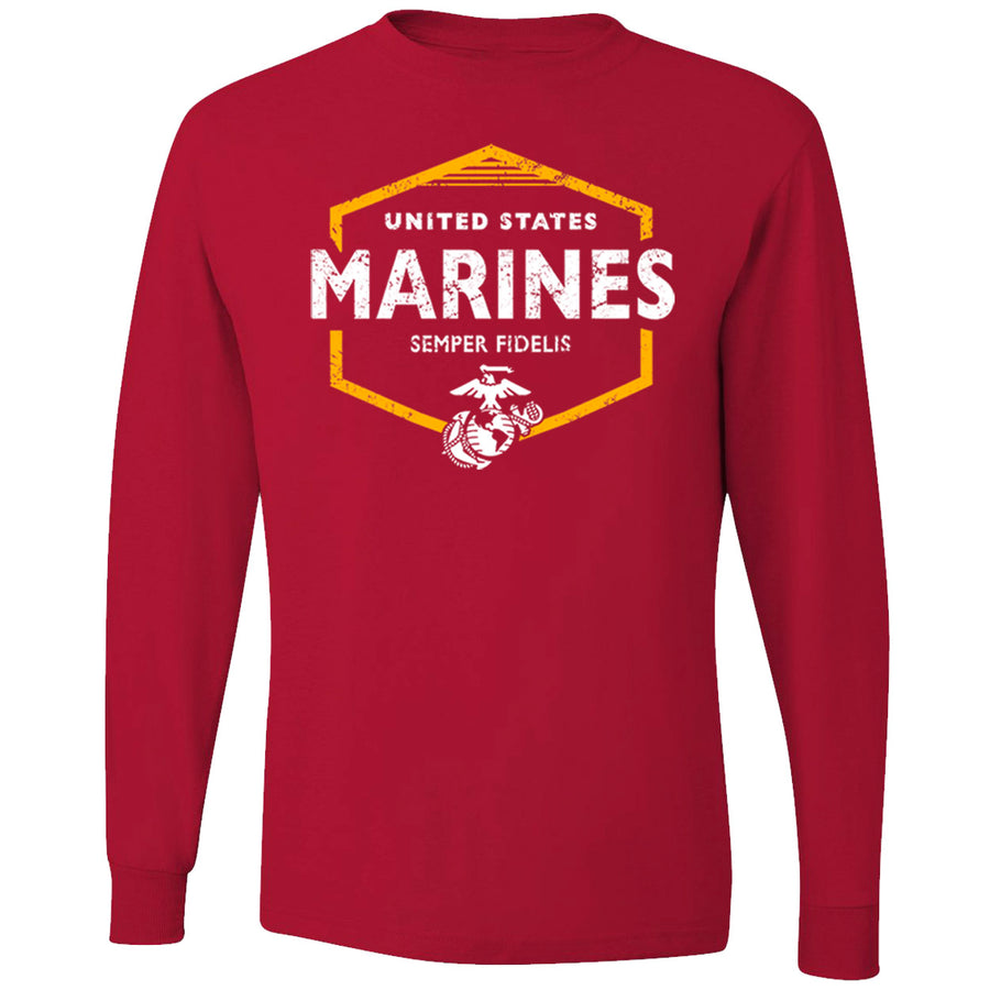 Marines United 50/50 Long Sleeve T-Shirt