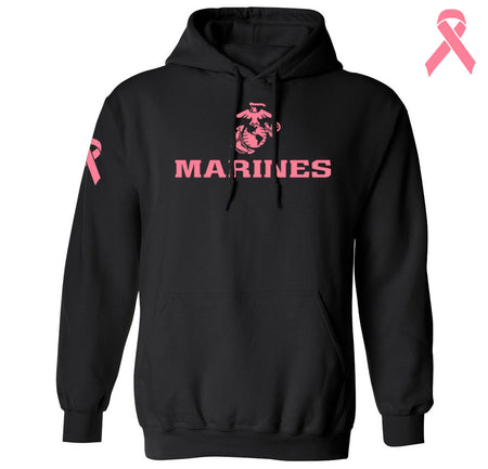 Marines Breast Cancer Awareness Hoodie