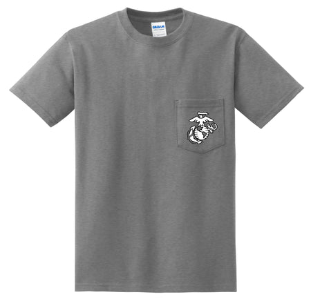 Black/White EGA Chest Seal Pocket T-Shirt