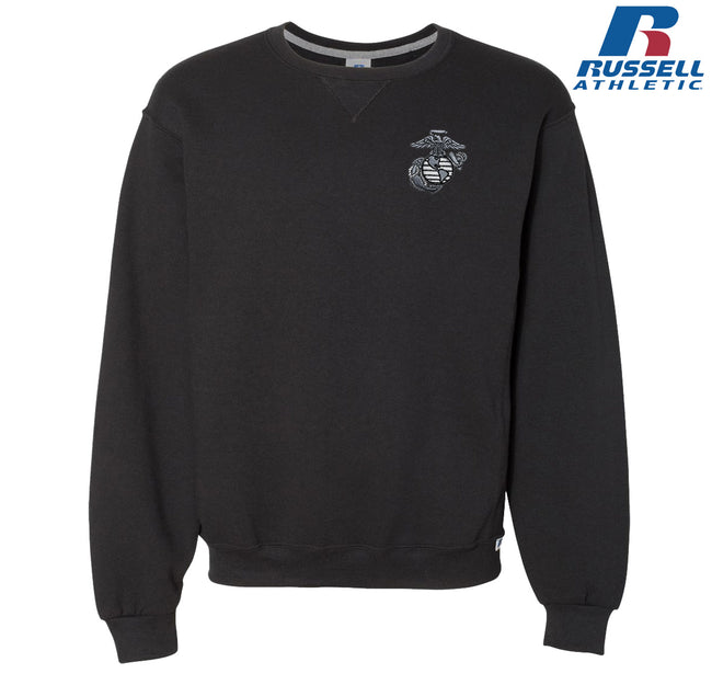 Aluminum EGA Embroidered Russell Athletic Dri Power® Crewneck Sweatshirt