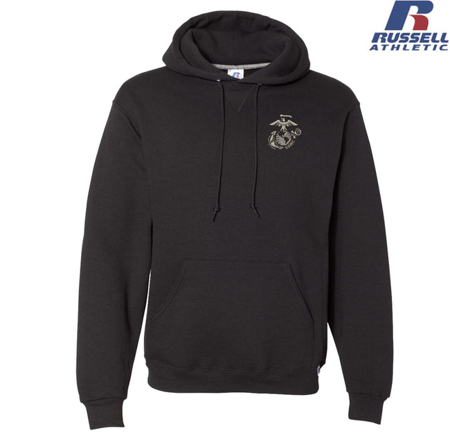 USMC EGA Embroidered Russell Athletic Dri Power Hoodie
