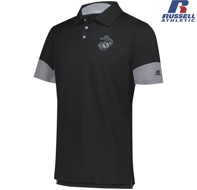 Russell Hybrid Polo with embroidered Aluminum EGA