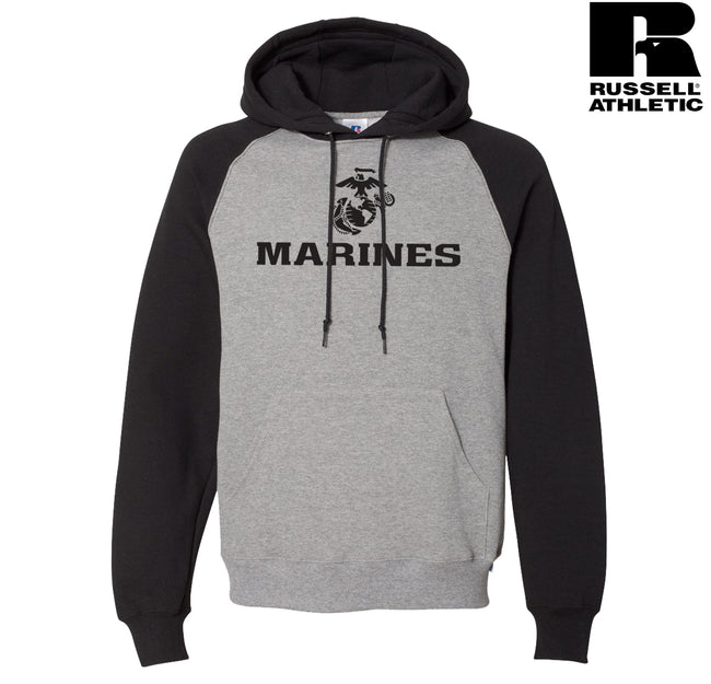 Russell Athletic Marines Raglan Hooded Sweatshirt
