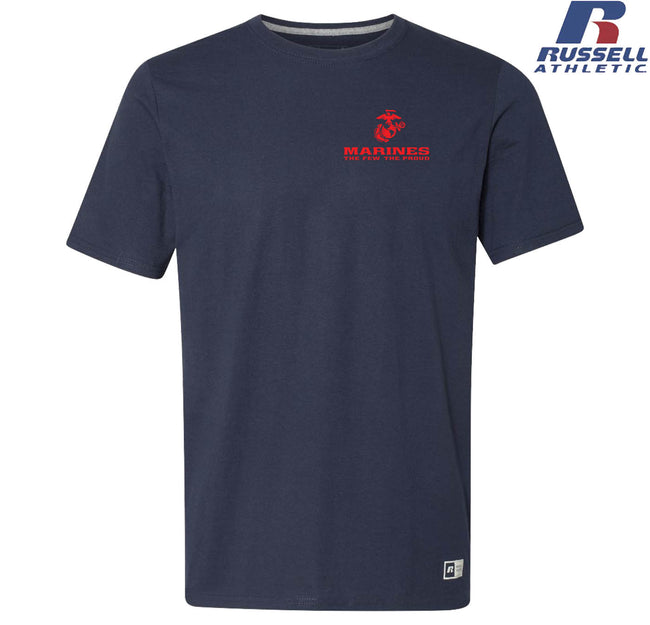 Russell Athletic The Few The Proud Red Chest Seal T-Shirt