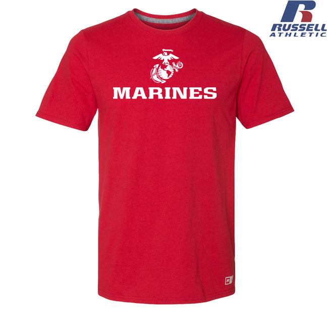 Russell Athletic White Marines EGA Performance T-Shirt