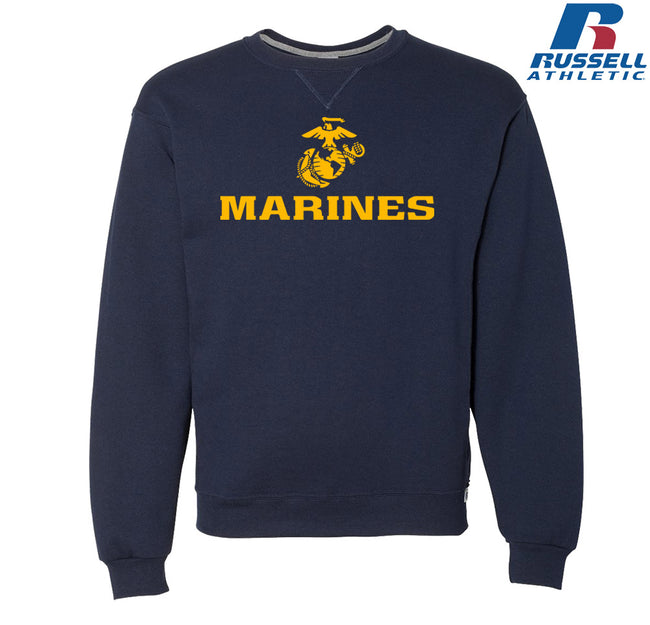 Russell Athletic Gold Marines Dri Power® Crewneck Sweatshirt