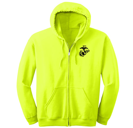 Marines Safety Green Full-Zip Hoodie