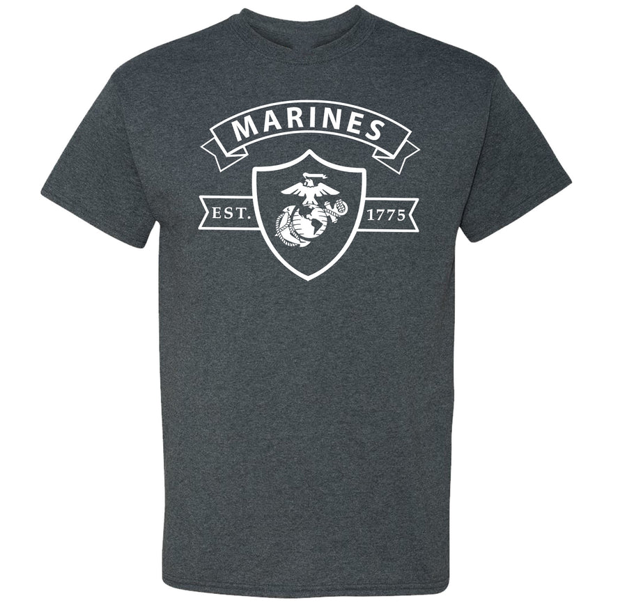 Marines Shield Heather T-Shirt