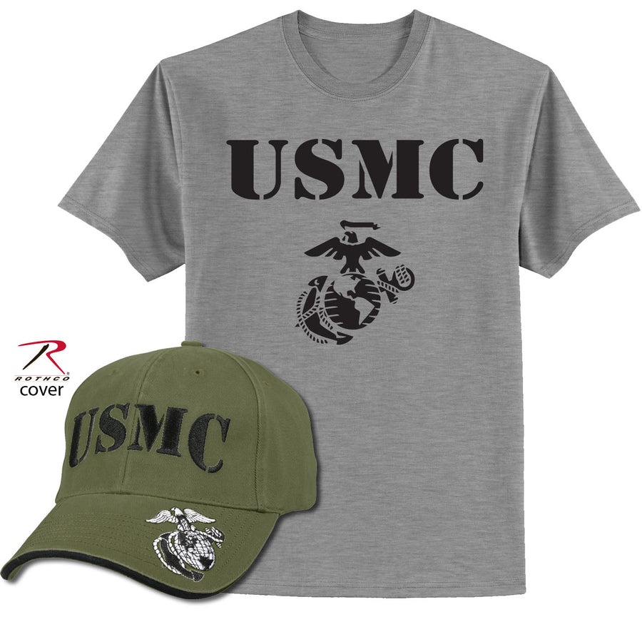 USMC COVER AND SHIRT COMBO