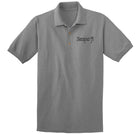 Black and Silver Semper Fi Embroidered Polo