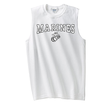 Black/White Marines EGA Sleeveless T-Shirt