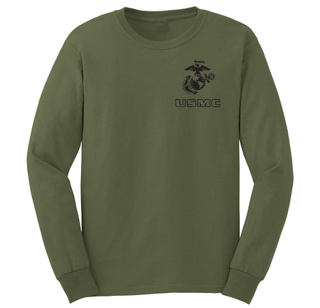 EGA Over USMC Chest Seal Marine Long Sleeve T-Shirt