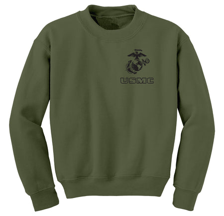 EGA Over USMC Chest Seal Marine Sweatshirt