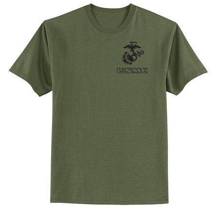 EGA Over USMC Chest Seal Marine T-Shirt