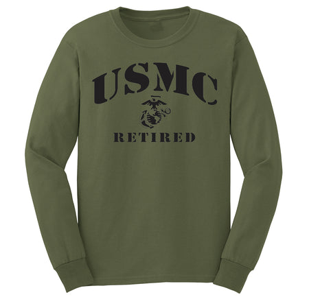 USMC Retired Marine Long Sleeve T-Shirt