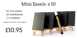Wedding Easels and Chalkboards x 10 plus free Chalkpen