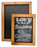 Poster frames and chalkboards