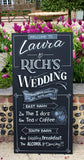 Handwritten chalkboards for weddings