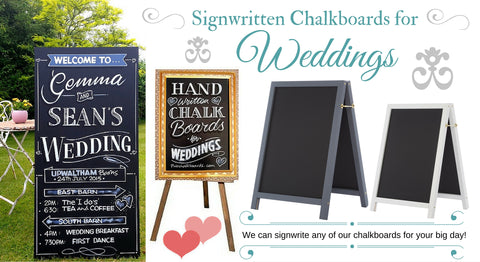 Chalkboard Art for weddings