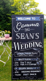 Signwritten chalkboards for weddings