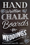 Chalkboards for Weddings