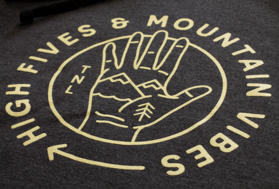 Mountain Vibes & High Fives Hoodie