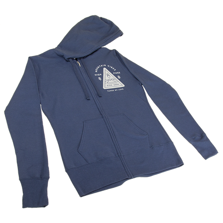 Unisex Triangle Mountain Vibes Full-Zip Hoodie
