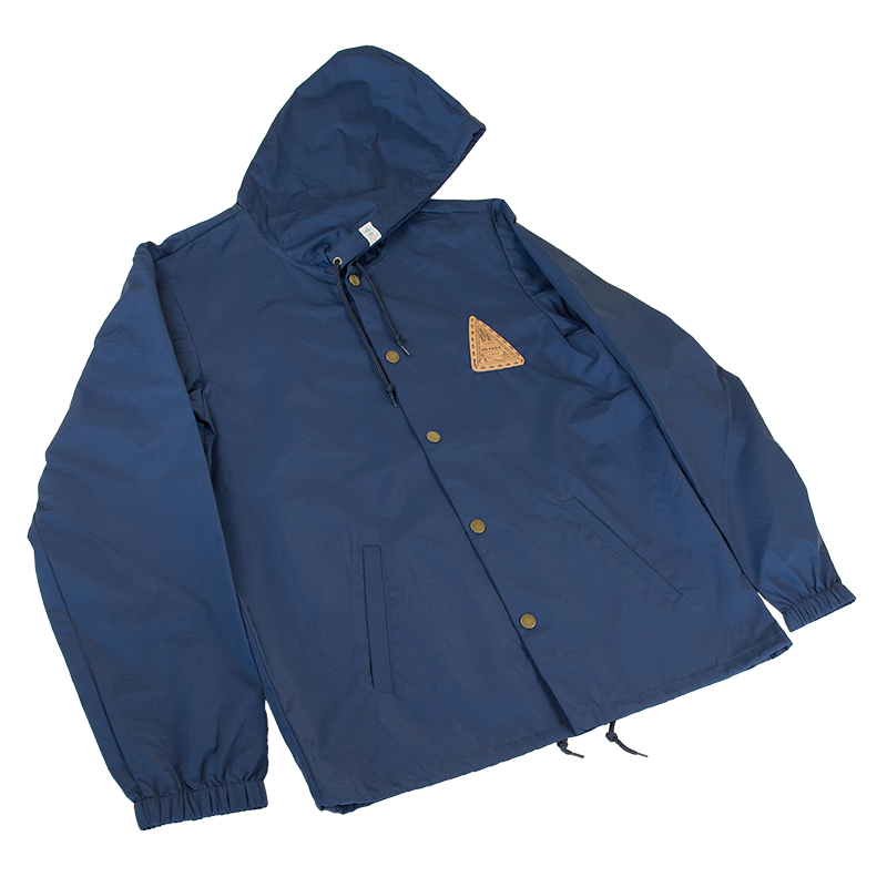 Hooded Windbreaker Coaches Jacket