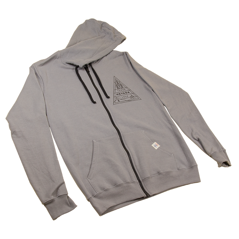 Triangle Badge Full-Zip Hoodie