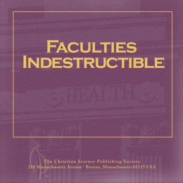 CD: Faculties Indestructible - Audio Edition
