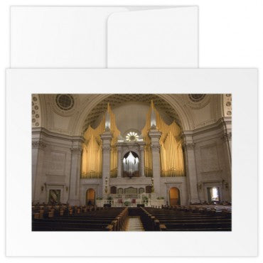 Greetings card: The Mother Church Extension Interior Organ