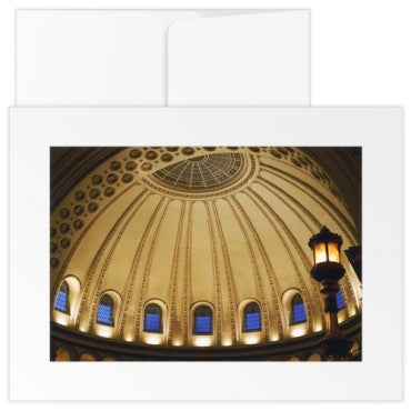 greetings card the mother church extension interior side dome