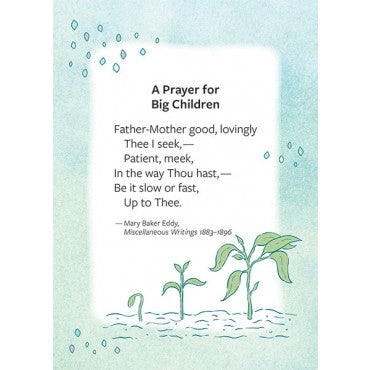 Card: Prayer for big children note card and envelope