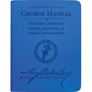 Church Manual (Sapphire Blue Vivella)