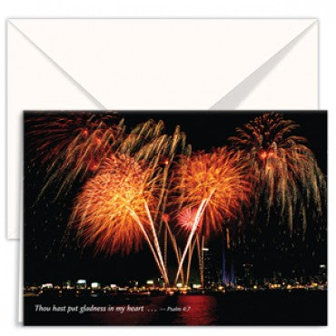 greetings card firewords Thou hast put gladness in my heart