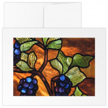 greetings Cards: The Mother Church Original Stained Glass Grapes