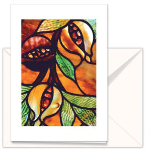 greetings Cards: The Mother Church Original church Stained glass Pomegranate
