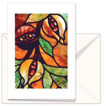 Cards: TMC Orig Stained glass Pomegranate (pack of 3)