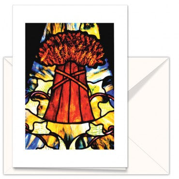 Greetings Cards: The Mother Church Original Stained glass Sheaf of Wheat
