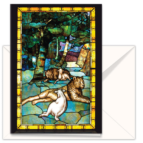 greetings card the peaceable kingdom lamb and lion