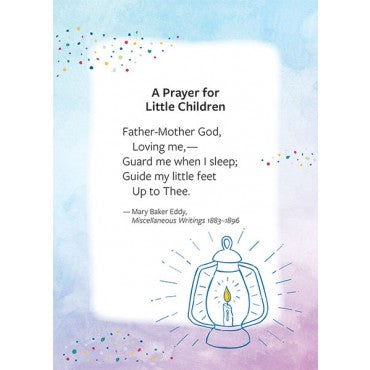 Card: Prayer for little children note card and envelope