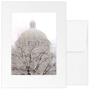 greetings card: the Mother Church Extension snowdy day dome