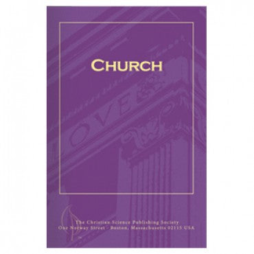 pamphlet - church - christian science