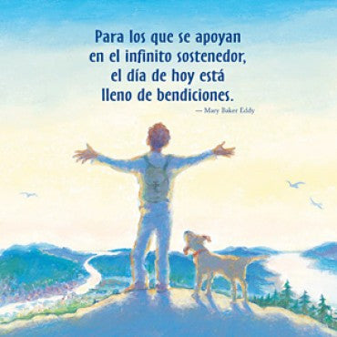 "Card: Big with Blessings: ""...el dia de hoy está lleno de bendiciones."" (Spanish)"