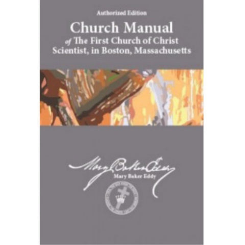 Church Manual – Sterling Midsize paper back soft back Christian Sciecne