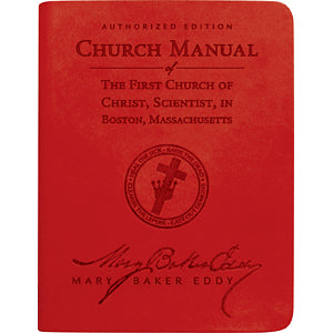 Church Manual (Ruby Red Vivella)