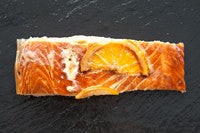 Hot Smoked salmon (Orange + Drambuie 200g)           * Skippers Favourite *