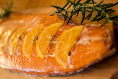 Delicious hot-smoked salmon with Drambuie and Orange (1.5kg)