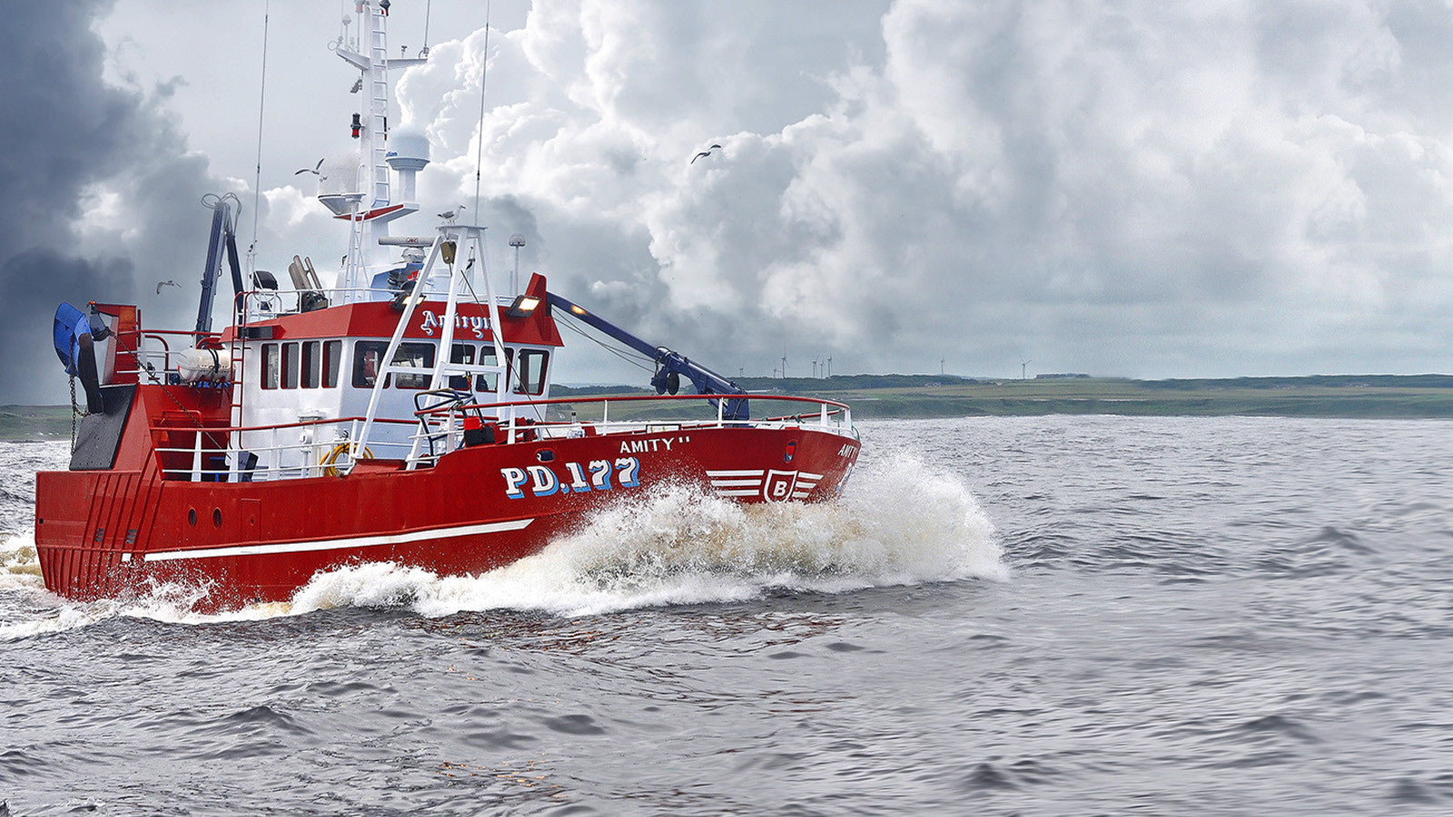 Peterhead-registered trawler Amity II and star of the BBC's BAFTA award-winning Trawlermen TV series